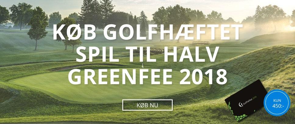 Køb Golfhæftet spil til halv greenfee