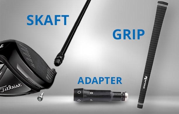 Køb skaft med grip og adapter monteret og klar!